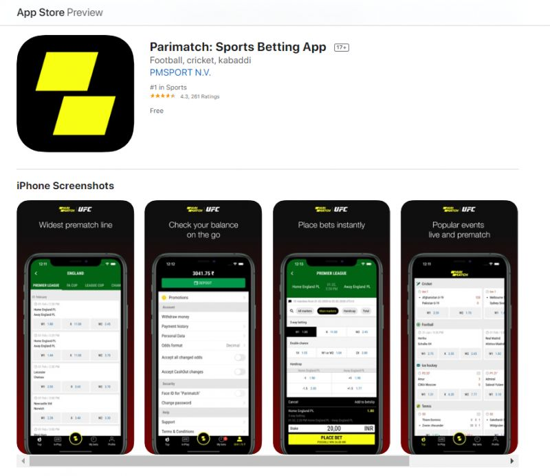 Parimatch mobile betting ladbrokes coleman medal 2021 betting on sports