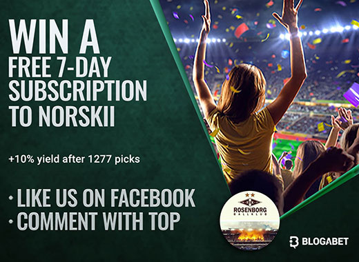 Like our Facebook Blogabet page and win a FREE 7-day subscription to our top tipsters!