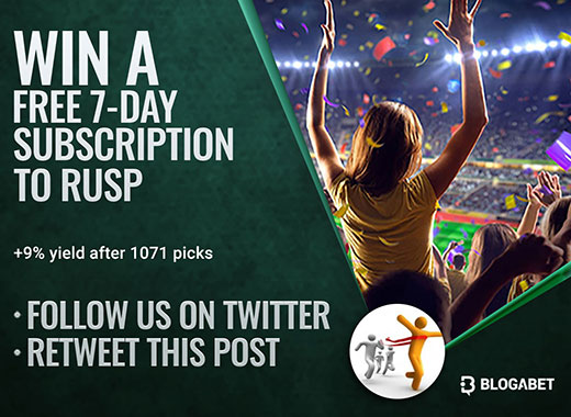 Follow Blogabet on Twitter and win a FREE 7-day subscription to our top tipsters!