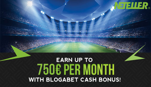 Neteller - Earn up to 1000€ per month with Blogabet cash bonus!